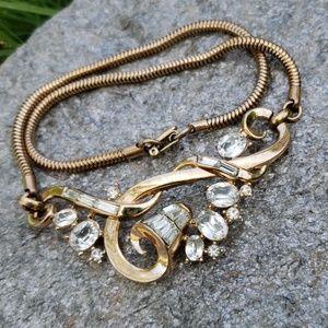 Vtg Alfred Phillipe Trifari Rhinestone Necklace